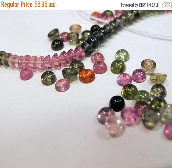 Natural Tourmaline Gumdrops Beads
