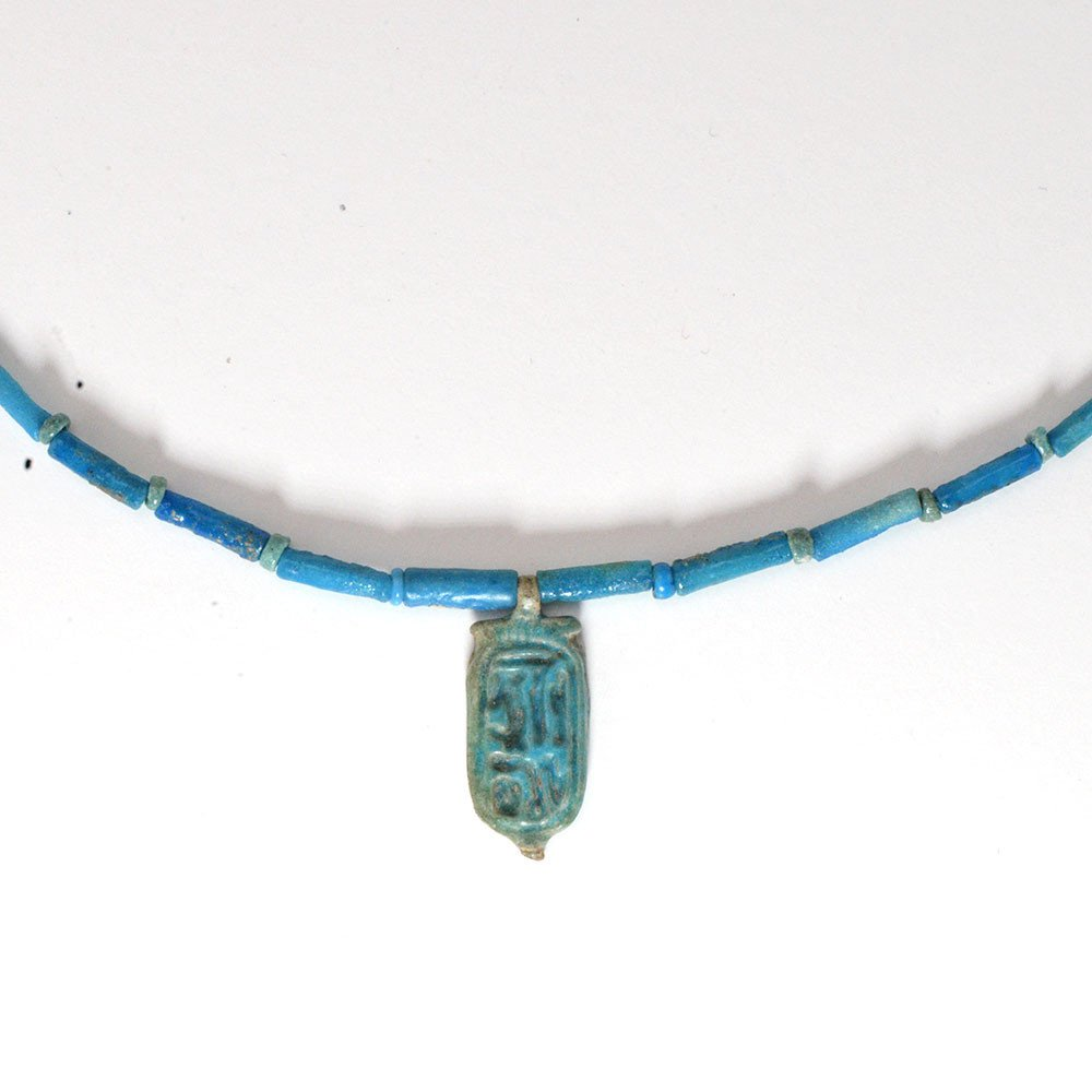 A ROYAL FAIENCE NECKLACE