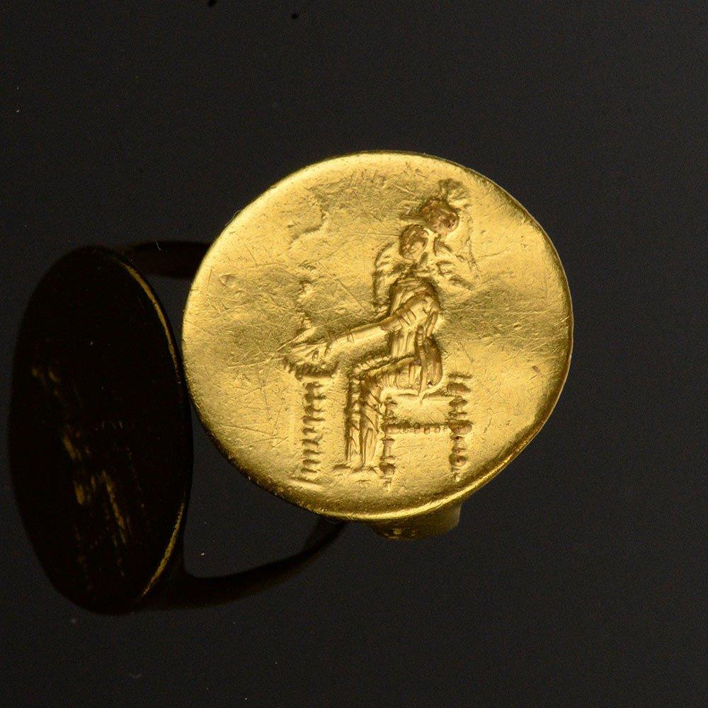 GREEK GOLD ATHENA RING