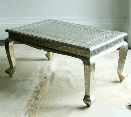 White Metal Coffee Table