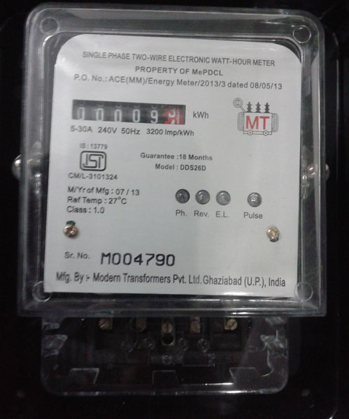 Single Phase Electronic Energy Meter