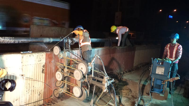 Rcc Wall Cutting : Beam cutting services manufacturer in new delhi