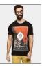 abof Men Black Printed Slim Fit T-shirt