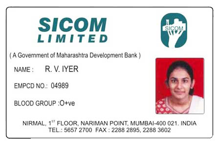 Pvc employee id card manufacturer in mumbai maharashtra for Staff id badge template