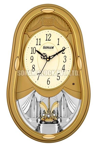 Rotating Musical Wall Clock