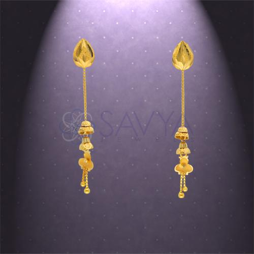 Gold Rajkot Earrings