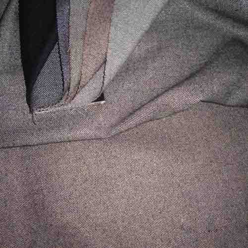Polyester Blended Shirting Grey Fabric