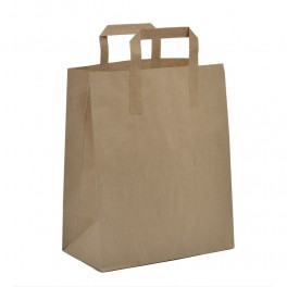 Brown SOS Paper Bags with Flat Handles