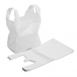 White Plastic Vest Carrier Bags