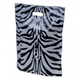 Zebra Animal Print Plastic Carrier Bags