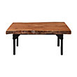 """40"""" Twin Root Coffee Table With Iron Base"""