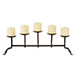 5 Pillar Iron Candle Holder In Antique