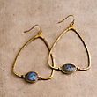 ADALENE LABRADORITE EARRINGS