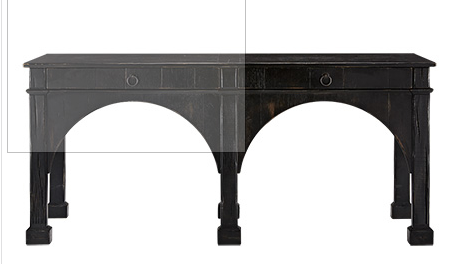 "ALLEGRO 75"" CONSOLE TABLE IN RUBBED NOIR"
