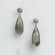 ARIANNA LABRADORITE BEAM EARRINGS