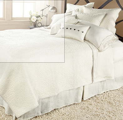 AVA TWIN QUILT IN WHITE