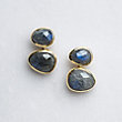 AVANNI LABRADORITE NATURALLY SHAPED EARRINGS