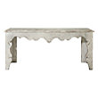 "AVANT 71"" CONSOLE TABLE IN WHITE SATIN"