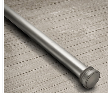 "BARLOW 1"" EXTENSION ROD IN ANTIQUE SILVER - 88"" - 126"""
