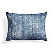 BATIK FLORAL BLUE RECTANGLE PILLOW