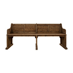 BENCH IN BROWN