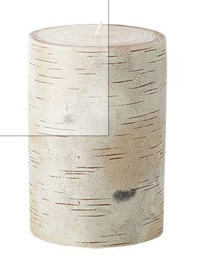 "Birch Tree 4"" X 6"" Pillar Candle"