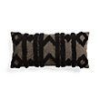 BOHO BLACK FRINGE RECTANGULAR PILLOW