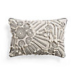 BOHO IVORY APPLIQUE RECTANGULAR PILLOW