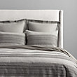 CHAMBRAY GREY EMBROIDERED QUEEN DUVET COVER
