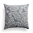 Coastal Blue Paisley Square Pillow