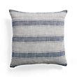 Coastal Stripe Blue Square Pillow