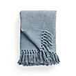 Cotton Slub Blue Throw