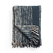 Cotton Striped Navy Throw