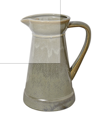 DAVEY PITCHER IN PATINA GREEN