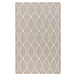 DOROTHEA 5' X 8' FLATWEAVE GEOMETRIC RUG IN LIGHT GREY