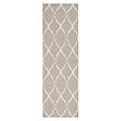 DOROTHEA , FLATWEAVE GEOMETRIC RUNNER IN LIGHT GREY