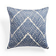 Embroidered Ikat Blue Pillow