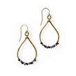 EMILIA TEARDROP HOOP EARRINGS