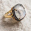 6 EVENING STAR MOONSTONE RING