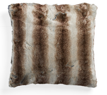 FAUX FUR COYOTE EURO SHAM