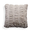 FAUX FUR LUXE GREY PLEATED EURO SHAM