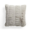FAUX FUR LUXE GREY PLEATED PILLOW