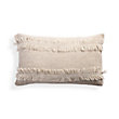 FLAX LIMOSGES FRINGE PILLOW