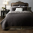 FRESCO BLACK VOILE QUEEN QUILT,.QUILTS