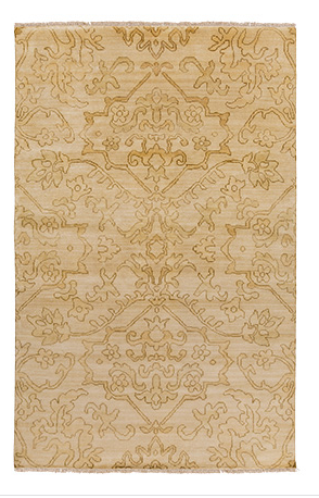HAND KNOTTED RUG IN GOLD5