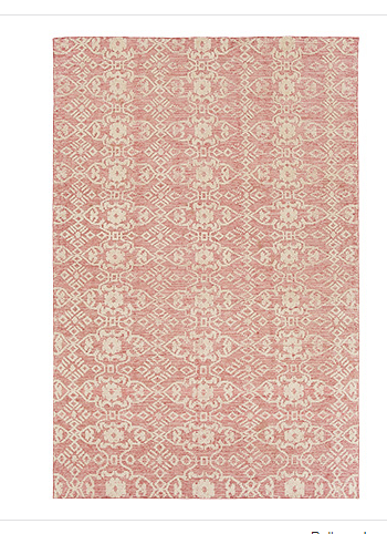 HAND KNOTTED RUG IN POPPY 1
