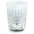 HAZEL GLASS OPAL WHITE TUMBLERS (SET OF 4)