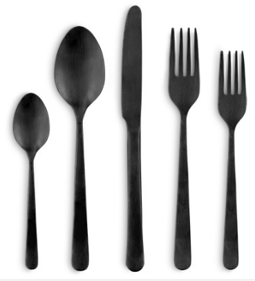 KENT 5 PIECE PLACE SETTING IN BLACK