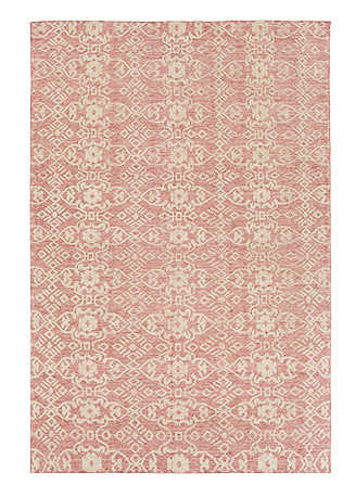 KNOTTED RUG IN POPPY 1