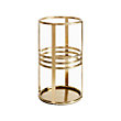 LINES SMALL HURRICANE BRASS Vase